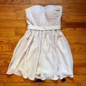 Cream Strapless Party/Prom Dress